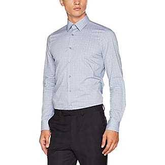 17 JSH-37Pierre2 10003763, Camisa de Oficina para Hombre, Azul (Dark Blue 405), 42 Joop