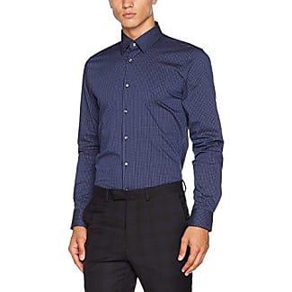 17 JSH-01Pierre1 10000628, Camisa de Oficina para Hombre, Azul (Dark Blue 401), 44 Joop
