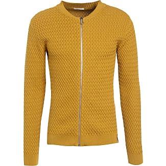 Knowledge Cotton Apparel Cardigan mustard