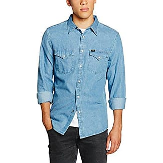 Western Shirt, Chemise Casual Homme, Bleu (Delft Blue), 42 Centimeters (Taille Fabricant: Large)Lee