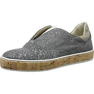 Aktuelle Damen Halbschuhe Sneakers 12 2621 Slipper Freizeitschuhe Hellgrau 36