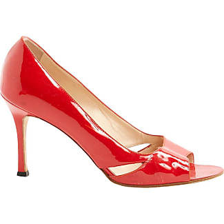manolo blahnik preowned patent leather heels