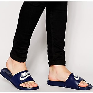 best cheap 0e326 47613 Nike Benassi JDI Sliders In Navy 343880-403 - Blue