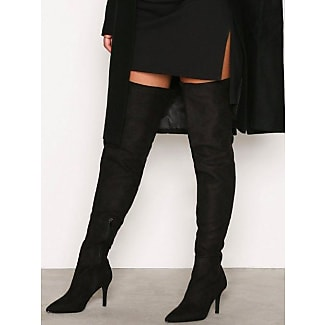 NLY NLY Shoes Thigh High Stiletto Boot Knee High Svart