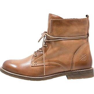 Pier One Bottines à lacets cognac