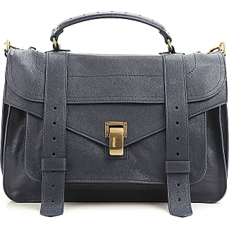Messenger Bag for Women On Sale, navy, Leather, 2017, one size Proenza Schouler