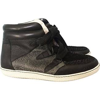 Pre-owned - Leather trainers Sandro