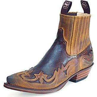Sendra Cuervo Pyton - Botas Cow Boy Unisex, Color Marrón, Talla 45