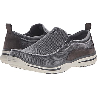 canvas skechers slip on mens