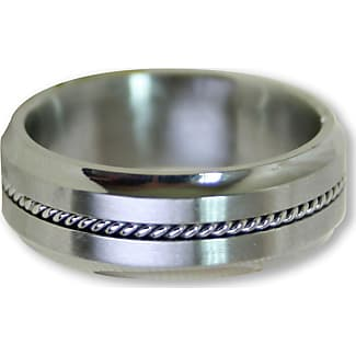 steel impressions stainless steel rope ring