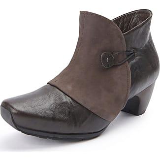 Schuhe Modisch Ankle Boots 9 6103 High Heels Stiefeletten Beige 37