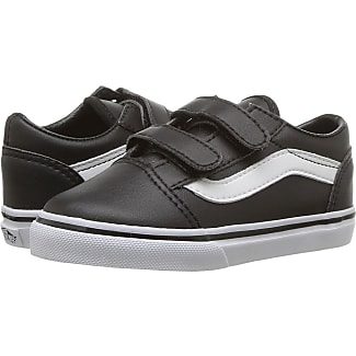 vans shoes black and white boys. vans kids old skool v (toddler) ((classic tumble) black/true shoes black and white boys a