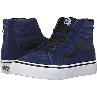 vans shoes black and blue. vans kids sk8-hi zip (little kid/big kid) (blue depths shoes black and blue o