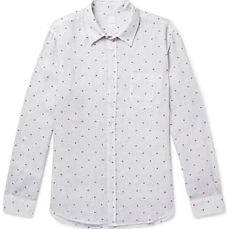 120% CASHMERE Fil Coupé Linen Shirt - Gray