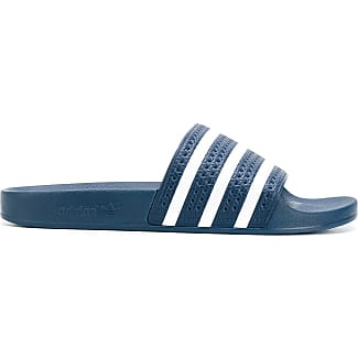 Adilette Textured-rubber Slides - Storm blueadidas Originals SJmXe0C4