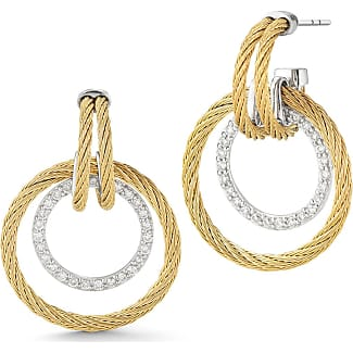 Alór 18k Cable & Diamond Pavé Hoop Earrings B3JNSw