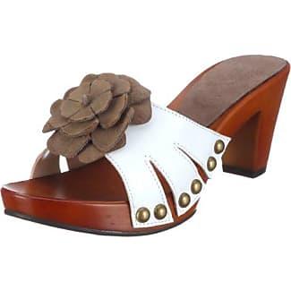 1003146 1003146 - Zuecos de cuero para mujer, color blanco, talla 37 Andrea Conti