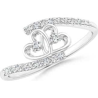 Angara Entwined Infinity Diamond Halo Promise Ring 9wjavnCK