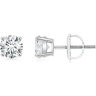 Angara Ruby and Diamond Stud Earrings with Basket-Settings in Platinum 4iANkal