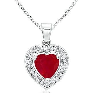 Angara Womens Natural Ruby Necklace in Platinum Ueb0eqiJ