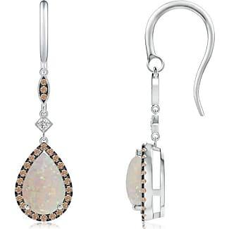 Angara Brown Diamond Swirl Stud Earrings in Platinum 7iQER9