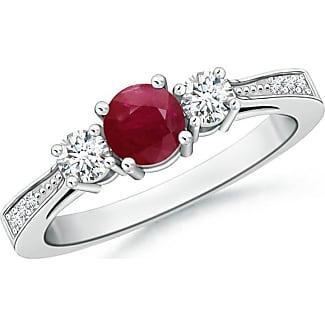 Angara Airline Set Three Stone Tanzanite Diamond Cathedral Ring in Platinum CqeFLd