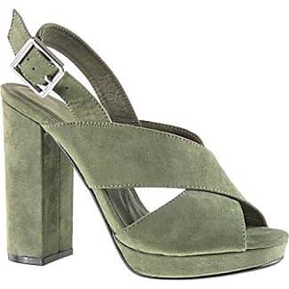 Angkorly Damen Schuhe Sandalen Mule - Plateauschuhe - Offen - String Tanga - Schleife Blockabsatz High Heel 12 cm - Camel JM-99 T 38 EsQo3