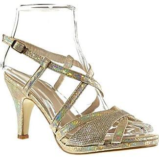 Angkorly Damen Schuhe Sandalen Pumpe - Sexy - Schlangenhaut - String Tanga - Glänzende Trichterabsatz 9 cm - Schwarz 168-38 T 40 S1IhMY