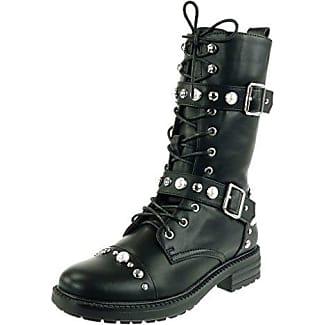 Angkorly - damen Schuhe Stiefel - Reitstiefel - Kavalier - Flexible - Knoten Blockabsatz 2 CM - Schwarz F2163 T 37 30QIQDA6W