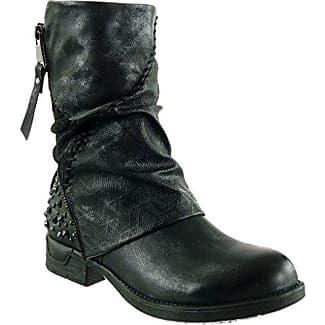 Angkorly - damen Schuhe Stiefel - Reitstiefel - Kavalier - Biker - String Tanga - Geflochten - Fransen Blockabsatz 3 CM - Blau TH13-3 T 37 QaiXGR47Y