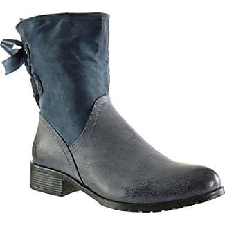 Angkorly - damen Schuhe Stiefel - Reitstiefel - Kavalier - Biker - String Tanga - Geflochten - Fransen Blockabsatz 3 CM - Blau TH13-3 T 37 YUmMAi