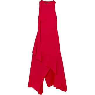 Asymmetric Open-back Crepe De Chine Midi Dress - Red Antonio Berardi Free Shipping Footlocker Finishline Buy Cheap With Mastercard Cheap Sale With Credit Card Buy Cheap Big Sale eBoXy1U
