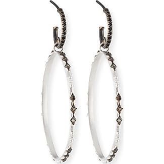 Armenta New World Black Sapphire Hoop Earrings brOHHnUNyP
