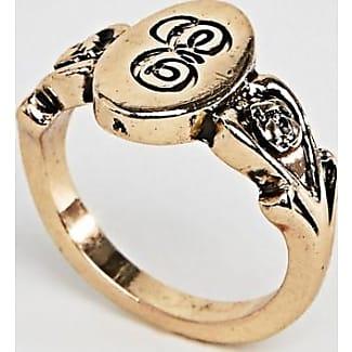 DESIGN ornate monogram K initial ring - Gold Asos vPygXRD