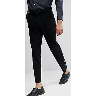 TALL Skinny Crop Smart Trousers In Black Waffle Texture With Silver Zips - Black Asos Cheap Sale Good Selling Discount Authentic Online Outlet Shop Offer OZH3kTT
