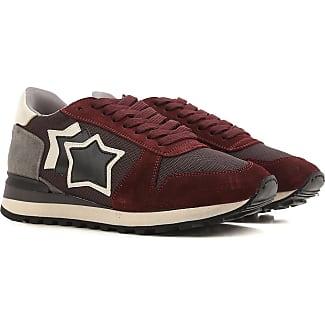 Sneaker für Damen, Tennisschuh, Turnschuh Günstig im Sale, Weiss, Leder, 2017, 36 37 38 40 41 Atlantic Stars