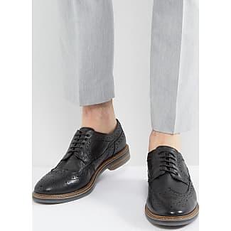 Base London Laceless En Cuir Harvey Chaussures Oxford En Noir - Noir Aas1DaWb6