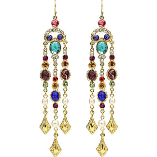 Ben-Amun Multicolor Triple Pearly Drop Earrings E1dAKWoV