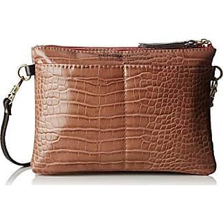 Round Bag, Womens Cross-Body Vert (Kaki Leather), 6x12x18 cm (W x H L) Bensimon