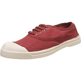 Bensimon Tennis Lacets, Zapatillas Para Mujer, Rojo (Rouge), 36 EU