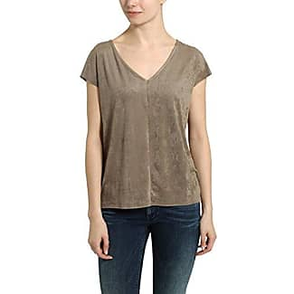 Berydale Rundhals in Verlourleder-Optik, Camiseta Mujer, Beige, Medium