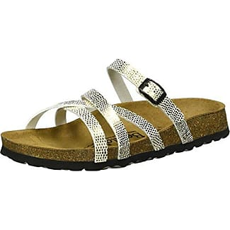 Stripes Cross Buckle, Mules Femme (BF Mirror Gold), 43 EUBetula
