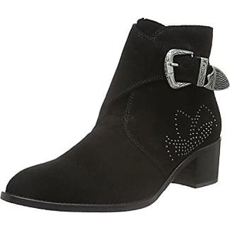 Full Suede Boot Son16, Zapatillas de Estar por Casa para Mujer, Negro, EU 38 Bianco