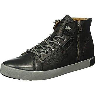 Blackstone KM99 - Zapatillas Altas de Piel Hombre, Color Negro, Talla 46 EU