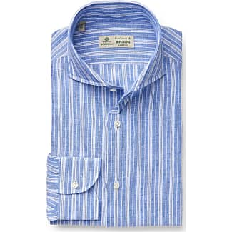 Outlet From China View Online Business shirt Nando shark collar white/light blue striped Borrelli Napoli nxPHt
