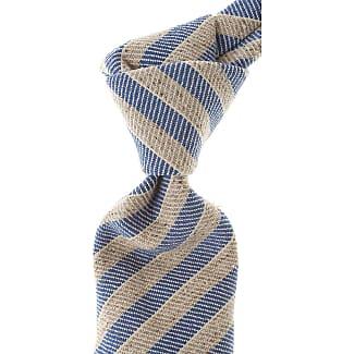 Ties On Sale, Dark Denim Blue Melange, Silk, 2017, one size Borrelli Napoli