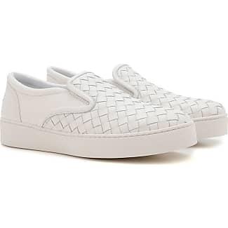 Slip on Sneakers for Women On Sale, Antic Silver, Leather, 2017, 2.5 5.5 8.5 Bottega Veneta