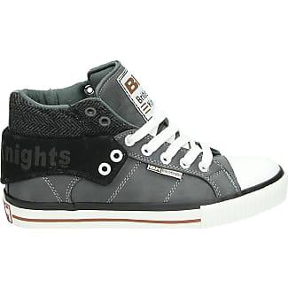 Chevaliers Britanniques Sneakers Hommes Roco Haut - Noir - 45 Eu 8mhSq7rg
