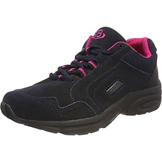 Bruetting Circle - Zapatos para Caminar de Material sintético Mujer, Gris - Grau (Anthrazit/Orange), 46 EU