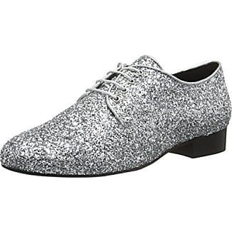 30848 Glitter, Zapatos de Cordones Derby Para Mujer, Negro, 36 EU Buffalo